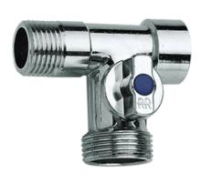 Skalbimo mašinos rutulinis ventilis REM, trišakis, d 1/2''-3/4''-1/2'' Citi vārsti