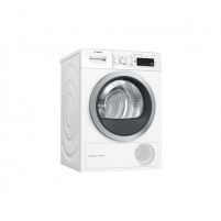 Skalbinių džiovyklė Bosch Dryer mashine WTW8758LSN Condensed, 8 kg, Energy efficiency class A++, Number of programs 12, Self-cleaning, White, Depth 60 cm, LED, Skalbinių džiovyklės