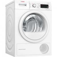Skalbinių džiovyklė Bosch Dryer mashine WTW875L8SN Condensed, Sensitive dry, 8 kg, Energy efficiency class A++, Number of programs 12, Self-cleaning, White, LED, Depth 60 cm, Skalbinių džiovyklės