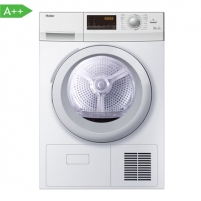 Skalbinių džiovyklė Haier Dryer mashine HD90-A636-E Condensed, Heat dryer, 9 kg, Energy efficiency class A++, Number of programs 12, White, Depth 65 cm, LED, Display Skalbinių džiovyklės