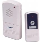 Skambutis durų bevielis, mait.: skambutis 3xAA (nekomplekt.), mygtukas 12V (komplekt.), veikia iki 60m, dažnis 433,92MHz Dubultā īpašam nolūkam savienotāji
