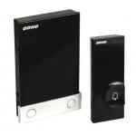 Skambutis durų bevielis, mait.: skambutis 3xAAA(nekomplekt.), mygtukas 12V (komplekt.) Dubultā īpašam nolūkam savienotāji