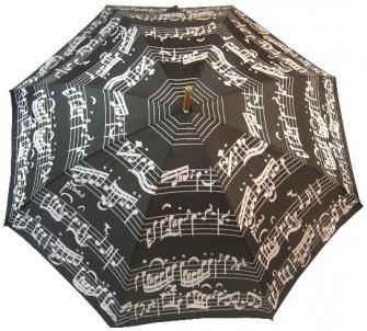 Skėtis Blooming Brollies Black Music Notes LRWP877 / BM Skėčiai