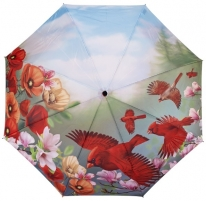 Skėtis Blooming Brollies Cardinal umbrella with folding style Skėčiai