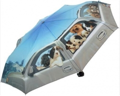 Skėtis Blooming Brollies Foldable Umbrella Puppy Road Trip ARFPRT