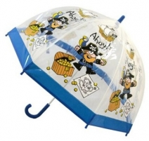 Skėtis Blooming Brollies Kids Holovaty transparent umbrella Evercreatures Kids Stuff Pirate BUPIR Skėčiai