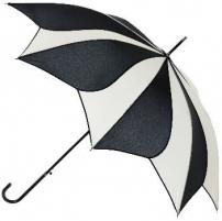 Skėtis Blooming Brollies Ladies Black and Cream Swirl umbrella Umbrella EDSSWB / C Skėčiai