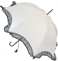 Skėtis Blooming Brollies Ladies Umbrella Scalloped with Lace BCSSCLWH Skėčiai