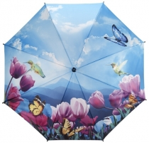 Skėtis Blooming Brollies Ladies umbrella Tulips sonata walking stick style