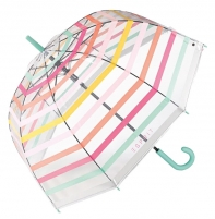 Skėtis Esprit Long AC Domeshape Transparent Stripes 53223