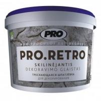 Skilinėjantis dekoravimo glaistas PRO.RETRO 15 kg