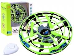 Skraidanti lėkštė valdoma rankomis, žalia Multikopteriai, dronai