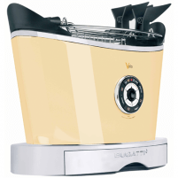 Skrudintuvas Bugatti Volo Toaster 13-VOLOC Cream, Steel, 930 W, Number of slots 2, Number of power levels 6, Bun warmer included Skrudintuvai, gruzdintuvės