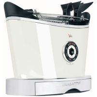 Skrudintuvas Bugatti Volo Toaster 13-VOLOC1 White, Steel, 930 W, Number of slots 2, Number of power levels 6, Bun warmer included Skrudintuvai, gruzdintuvės
