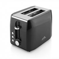 Skrudintuvas ETA Toaster Black, 900 W, Number of slots 2, Number of power levels 7, Bun warmer included Toasters, deep fryers