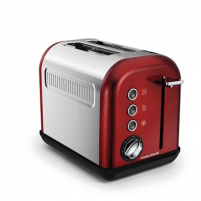 Skrudintuvas Morphy richards 222011 Red, Stainless steel, Number of slots 2, Number of power levels 7, Toasters, deep fryers