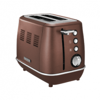 Skrudintuvas Morphy richards Toaster 224401 Bronze, Stainless steel, 1800 W, Number of slots 2, Number of power levels 7, Skrudintuvai, gruzdintuvės