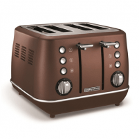 Skrudintuvas Morphy richards Toaster 240101 Bronze, Stainless steel, 1880 W, Number of slots 4, Number of power levels 7, Toasters, deep fryers