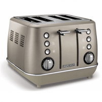 Skrudintuvas Morphy richards Toaster 240101 Platinum, Stainless steel, Number of slots 4, Number of power levels 7, Tosteri, fritieri