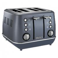 Skrudintuvas Morphy richards Toaster 240101 Steel Blue, Stainless steel, 1880 W, Number of slots 4, Number of power levels 7, Toasters, deep fryers