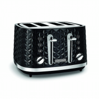 Skrudintuvas Morphy richards Toaster 248131 VECTOR Black, Plastic, 1880 W, Number of slots 4, Number of power levels 7, Skrudintuvai, gruzdintuvės