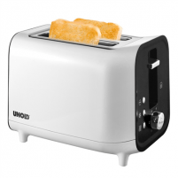 Skrudintuvas Unold Toaster 38410 White/ black, Plastic, 800 W, Number of slots 2, Number of power levels 6, Bun warmer included Tosteri, fritieri