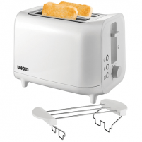 Skrudintuvas Unold Toaster 38411 White, Plastic, 800 W, Number of slots 2, Number of power levels 6, Bun warmer included Skrudintuvai, gruzdintuvės