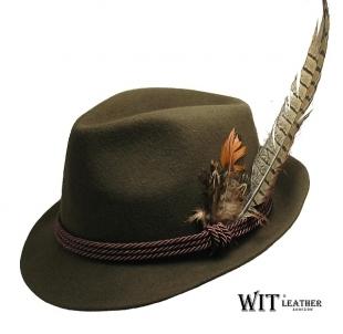 Skrybėlė medžioklio L 008/09 su plunksna Galvassegas