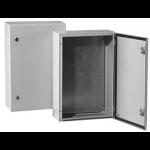 Skydas paskirstymo 400x600x150mm, IP66, metalinis, su spynele, su montž. plokšte, IK10, Tibox ST4 615