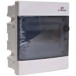 Skydelis modul. įleidžiamas, 8mod., IP40, plastikinis, tams. dur., be spynelės, ECM, ETI 01101010