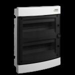 Skydelis modul. įleidžiamas, 24mod., IP40, plastikinis, tams. dur., be spynelės, PNF 24T, NOARK 101514