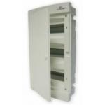 Skydelis modul. įleidžiamas, 36mod., IP40, plastikinis, balt. dur., be spynelės, ECM, ETI 01101079