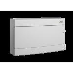 Skydelis modul. paviršinis, 18mod., IP40, plastikinis, balt. dur., be spynelės, PNS 18W, NOARK 101506