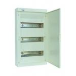 Skydelis modul. paviršinis, 36mod., IP40, plastikinis, balt. dur., be spynelės, Hager VS36PA