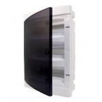 Skydelis modul. paviršinis, 36mod., IP40, plastikinis, tams. dur., be spynelės, PNS 36T, NOARK 101502 Distribution of surface shields
