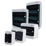 Skydelis modulinis paviršinis, 4mod., IP65, plastikinis, tams. dur., be spynelės, ECH, ETI01101060 Įleidžiami paskirstymo skydeliai