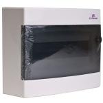 Skydelis modul. paviršinis, 8mod., IP40, plastikinis, tams. dur., be spynelės, ECT, ETI 01101000