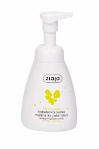 Skystas muilas Ziaja Lemon Cake Hands & Body Foam 250ml Ziepes