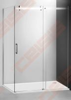 Slankiojančios dušo durys ROLTECHNIK AMBIENT LINE AMD2/1300 skirtos montuoti į nišą su sidabro spalvos profiliu ir skaidriu stiklu Dušo sienelės, durys