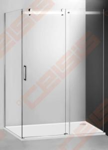 Slankiojančios dušo durys ROLTECHNIK AMBIENT LINE AMD2/1400 skirtos montuoti į nišą su sidabro spalvos profiliu ir skaidriu stiklu