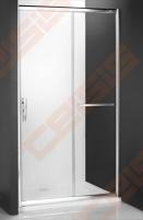 Slankiojančios dušo durys ROLTECHNIK PROXIMA LINE PXD2N/120, skirtos montuoti į nišą, su brillant spalvos profiliu ir šerkšnu padengtu stiklu
