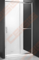 Slankiojančios dušo durys ROLTECHNIK PROXIMA LINE PXD2N/130, skirtos montuoti į nišą, su brillant spalvos profiliu ir skaidriu stiklu