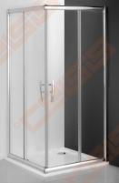 Slankiojančios dušo durys ROLTECHNIK PROXIMA LINE PXS2L/90 su brillant spalvos profiliu ir šerkšnu padengtu stiklu (kairė)