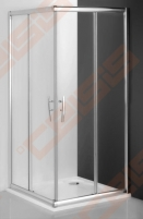 Slankiojančios dušo durys ROLTECHNIK PROXIMA LINE PXS2L/90 su brillant spalvos profiliu ir šerkšnu padengtu stiklu (kairė) Dušo sienelės, durys