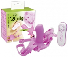 Smile Strap On Vibe Crazy Vibruojantys siksna-on
