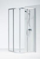 SOLID pusapvalė shower 90x90x195 cm, aliuminio sp. profilis, clear glass, SVR NK 99