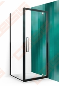 Šoninė dušo sienelė ROLTECHNIK EXCLUSIVE LINE ECDBN/800 blizgaus chromo (Brilliant) spalvos profilis + skaidrus (Transparent) stiklas