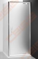 Šoninė dušo sienelė ROLTECHNIK PROXIMA LINE PXBN/80 durims PXDO1N ir PXD2N su brillant spalvos profiliu ir skaidriu stiklu