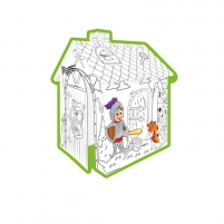 Spalvinamas kartoninis namas | Riteris | Mochtoys 11123 Rotaļu laukumi