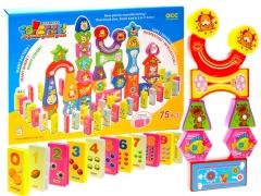 """Spalvotų kaladėlių žaidimas """"Domino"""" Kaladėlės ir statybos žaislai"""